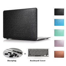 New Silk Texture Laptop Case For Apple MacBook Air 11 13 inch Pro 13.3 15 12 with Retina Sleeve Cover