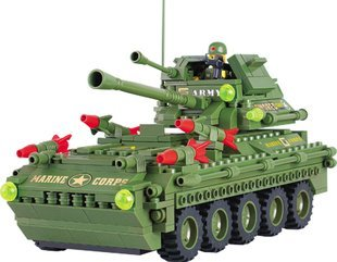 Assembles toy  Free Shipping Assembles toy blocks toys/made high/open 908 military tank think-tank  1pcs