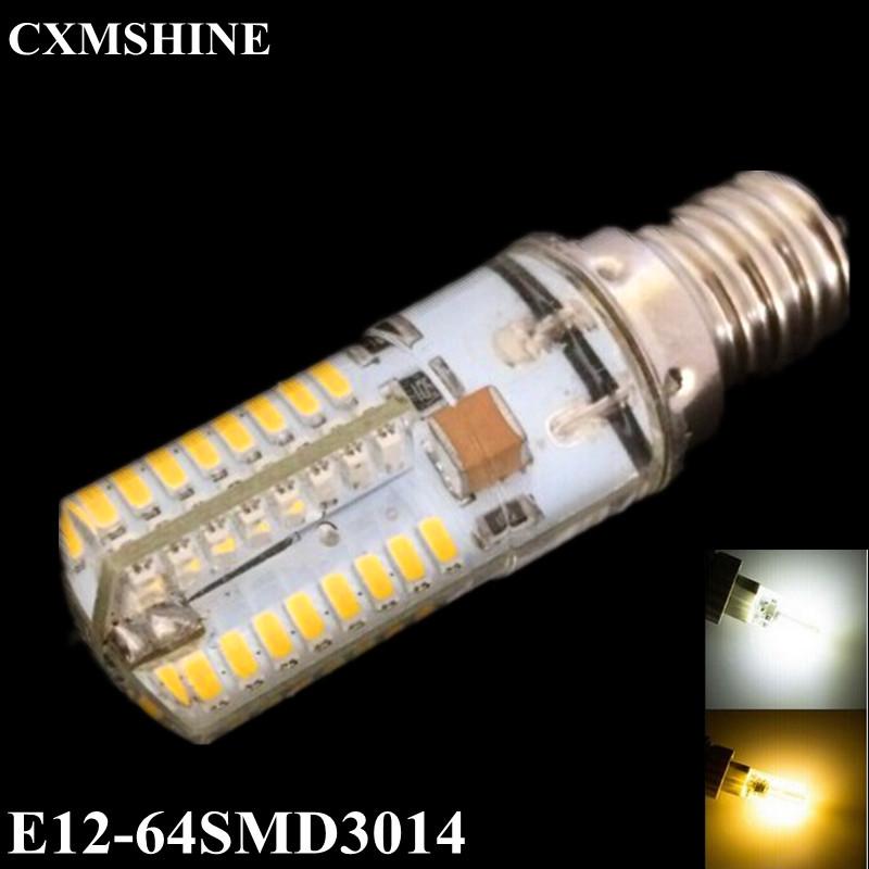 110V 6W 3014SMD Led Light 64leds E12 Corn Bulb Lamp High Lumen Energy Saving Lamps Warm white/White 1 - Shenzhen BoJia Technology Co., Ltd. store