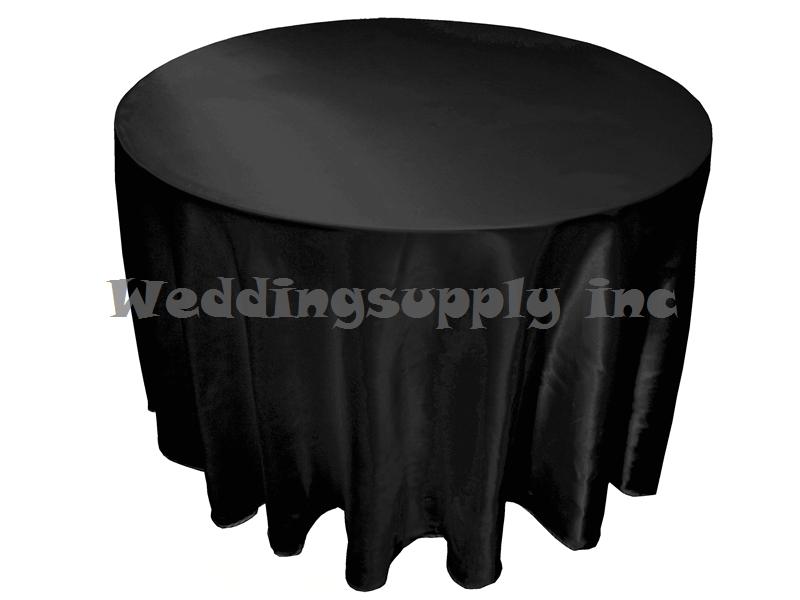 20 pcs Cheap Premium 108''(275cm) Round Black Satin Table cloths for Sales Cheap Tablecloths for wedding free shipping Bulk Sale(China (Mainland))