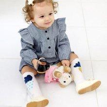 Baby Anti-slip Knee Socks Lightning Raindrop Cotton Elastic Stockings