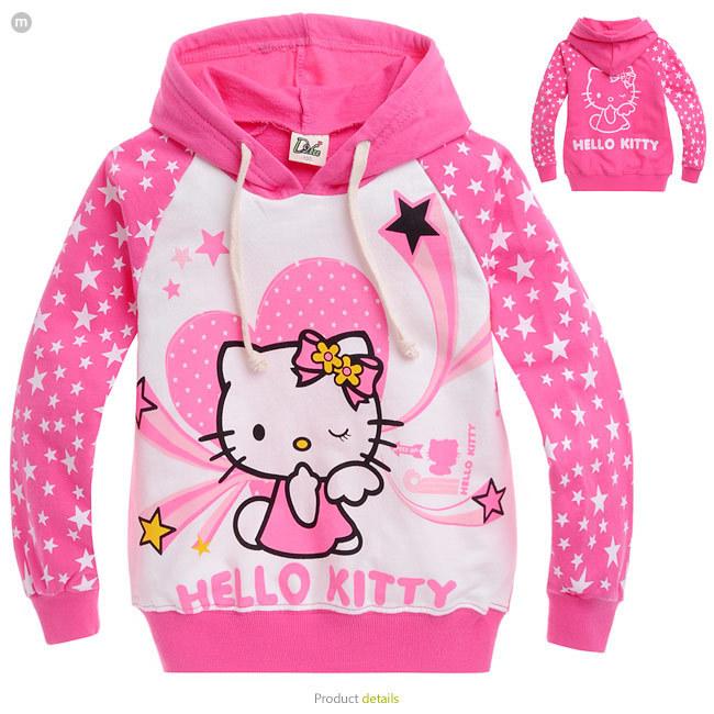 2016 new autumn Hello Kitty girls clothes long sleeve children hoodies kids clothing sweatshirts 2-10age girl - 1990 store