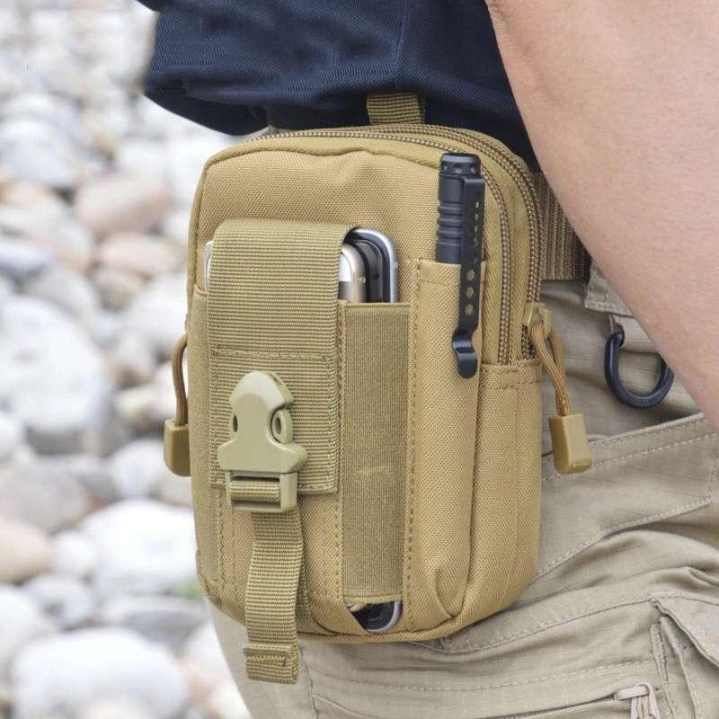Tactics Molle Waist Pack Hip Bag Phone Casual Men's Waist Bag Fanny Pack Bag Military Tactics Pouch H22(China (Mainland))