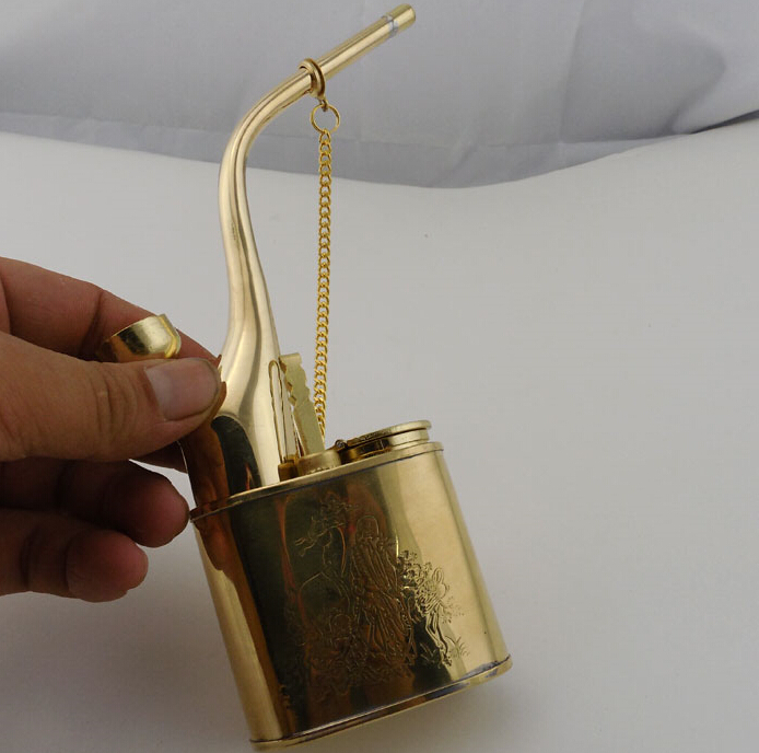 Brass hookah smoking set water smoking pipe smoking pipe old fashioned thickening hookah shirlstar dual(China (Mainland))