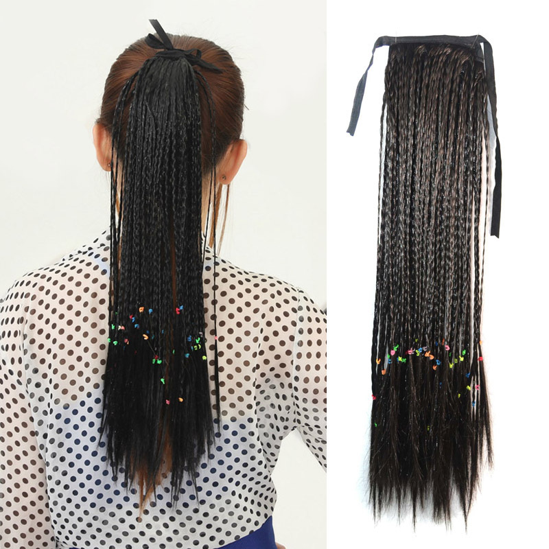 50CM 20 INCHES Long Handmade  Pigtail Bohemian Style Ponytail  Ribbon Pony Tail Hair Extensions<br><br>Aliexpress