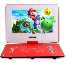 Top selling  mobile DVD13 inch DVD Slim Portable DVD player  theater and singing machine small card MP3  best kids gifts