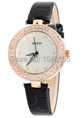 Free shipping Kezzi Women s Ladies Men Watch K977 Quartz Analog Leather Wristwatches Gifts Casual Classic