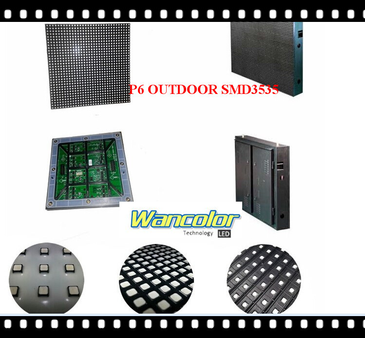 free shipping DIY LED display 20 pcs P6 outdoor SMD Full Color Led Module (192*192mm)+ RGB controller+power supply(China (Mainland))