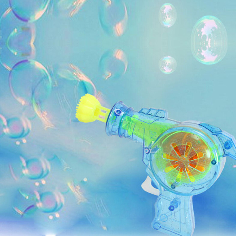 Fairy taleled Shining bubble gun Outdoor toys kids soap bubble blower child toy baby toy gift water gun good package
