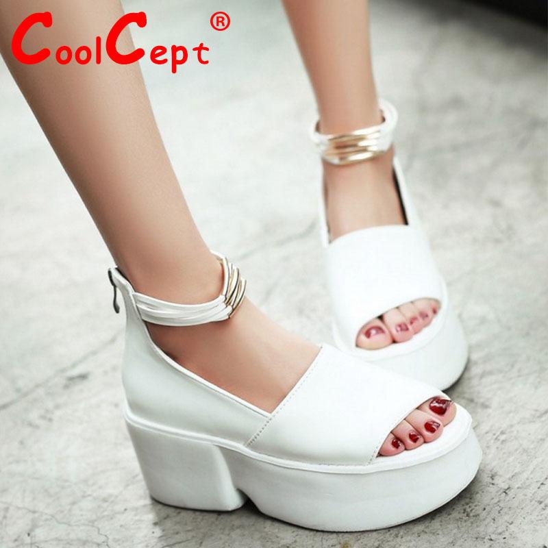 women wedge high heel platform shoes summer zapatillas mujer sexy fashion ladies heeled footwear heels shoes size 34-43 P18870<br>