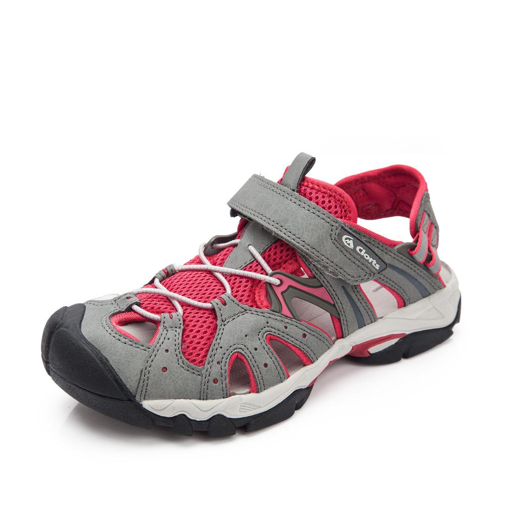 2016 Clorts Women's Sport Sandals Summer Beach Shoes PU Mesh Lightweight For Women Free Shipping SD-207A