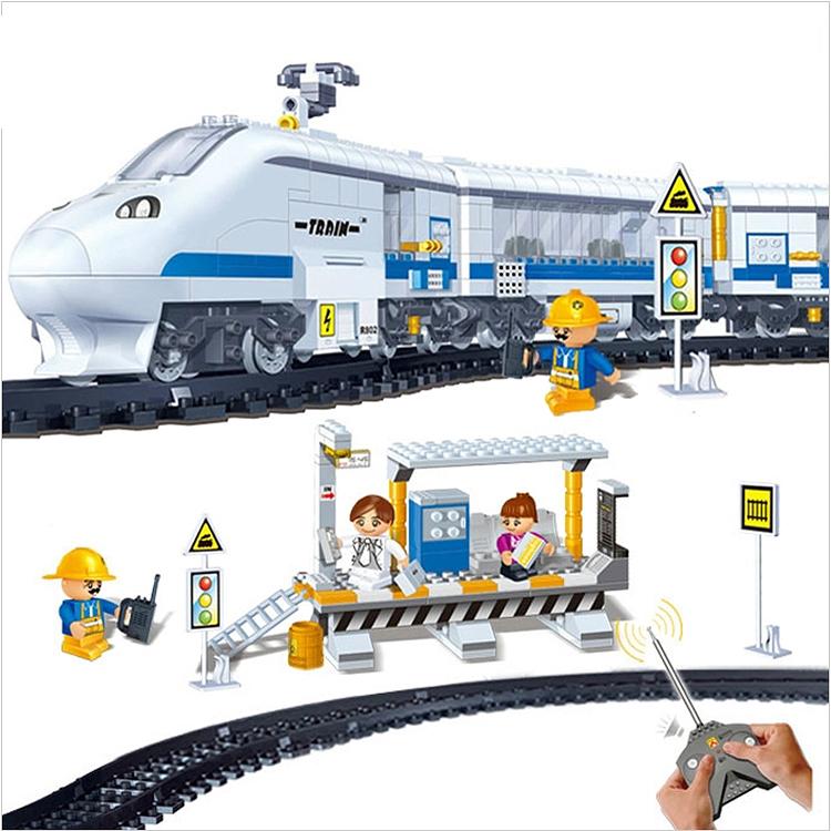 Здесь можно купить  RC Train 8221 Remote Control TRAIN STATION Building Block Sets 662pcs Educational Jigsaw DIY Bricks toys for children  Игрушки и Хобби