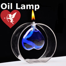 Unique  Love Valentine's Day Candlestick  Beautiful Candle Holders Transparent  Glass Oil Lamp  Wedding gift Christmas Christmas(China (Mainland))