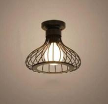 Современные скандинавские черные кованые E27 светодиодные потолочные лампы для кухни, гостиной, спальни, кабинета, балкона, крыльца, рестора...(China)