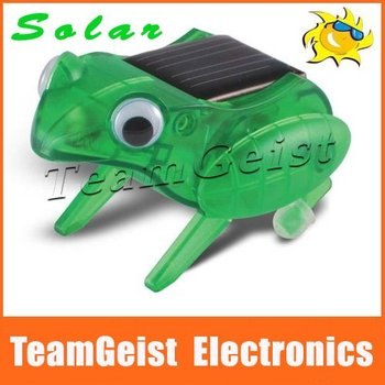 New Item! 5pcs/lot Solar Capering Frog, solar Energy toys, best educational gift for children, Christmas gift Free shipping