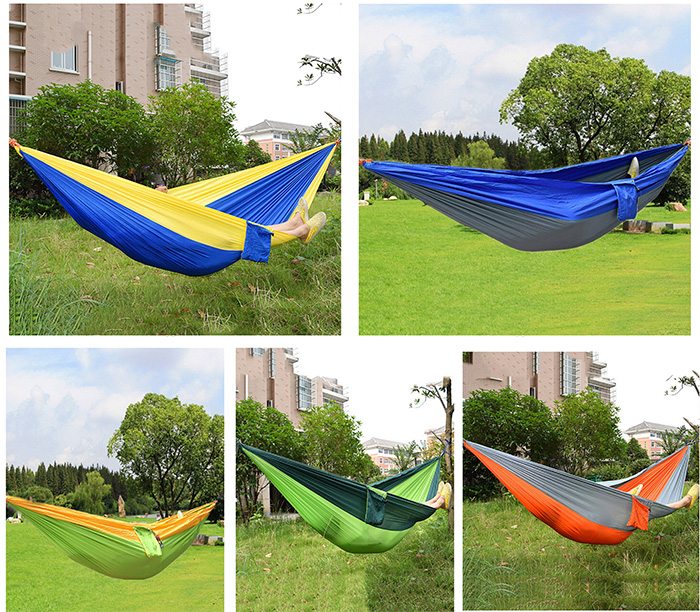 newest durable colorful hammock double person assorted color portable parachute nylon fabric for indoor outdoor use multi color 2018 abric mousepad newest durable colorful hammock double person      rh   dhgate