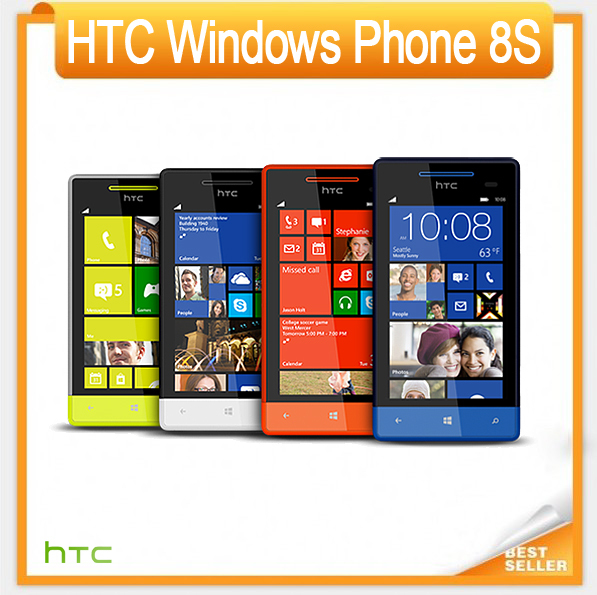 8S Original Unlocked HTC Windows Phone 8S A620e 3G 5MP Wifi GPS 4 inch Unlocked SmartPhone EMS DHL Free Shipping(China (Mainland))