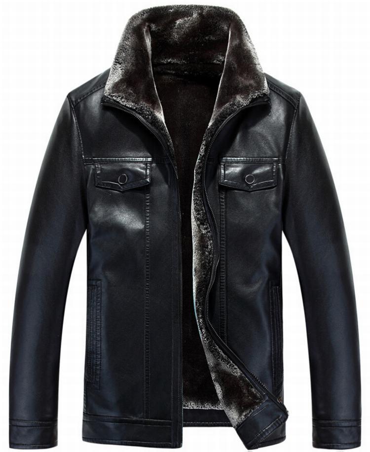 Free Shipping State collar Winter slim fur men motorcycle ...
