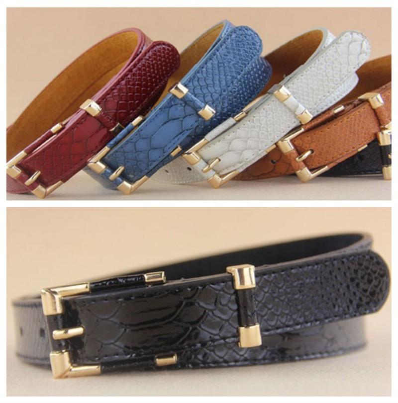 New Arrival Women Crocodile Pattern Wide waist belt Brand Lady Leather Belts Metal Buckle Straps Trend All-match Waistband 1 Pcs(China (Mainland))