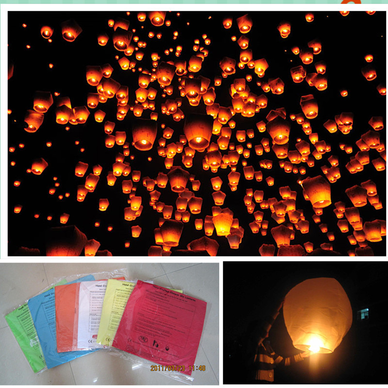 Oval shape 20pcs/lot Chinese Kongming paper sky lantern 100%biodgradable party/wedding decoration 8 colors free shipping(China (Mainland))