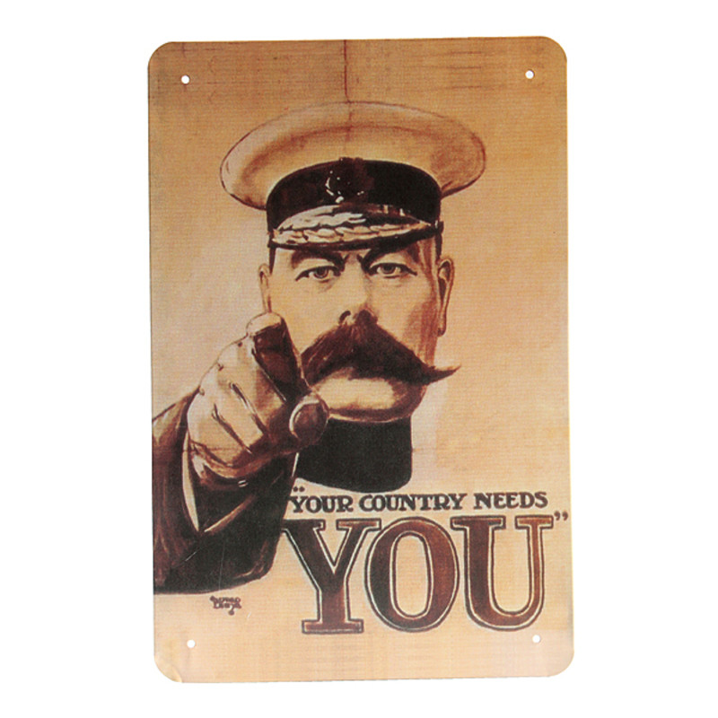 Brand New Retro Vintage Plaques Your Country Needs You Advertising Metal Tin Sign Decor Wall Poster Ideal Gift 30x20x1.5cm(China (Mainland))
