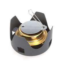 Stainless Steel Copper Portable Mini Ultra light Spirit Alcohol Stove Outdoor Backpacking Hiking Camping Furnace with