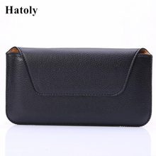 """Buy HATOLY Pouch Case Cover For iphone 7 Plus Horizontal Belt Clip Holster Leather Business Men's Style Smartphone Bags 3.5""""-5.5""""< for $2.40 in AliExpress store"""