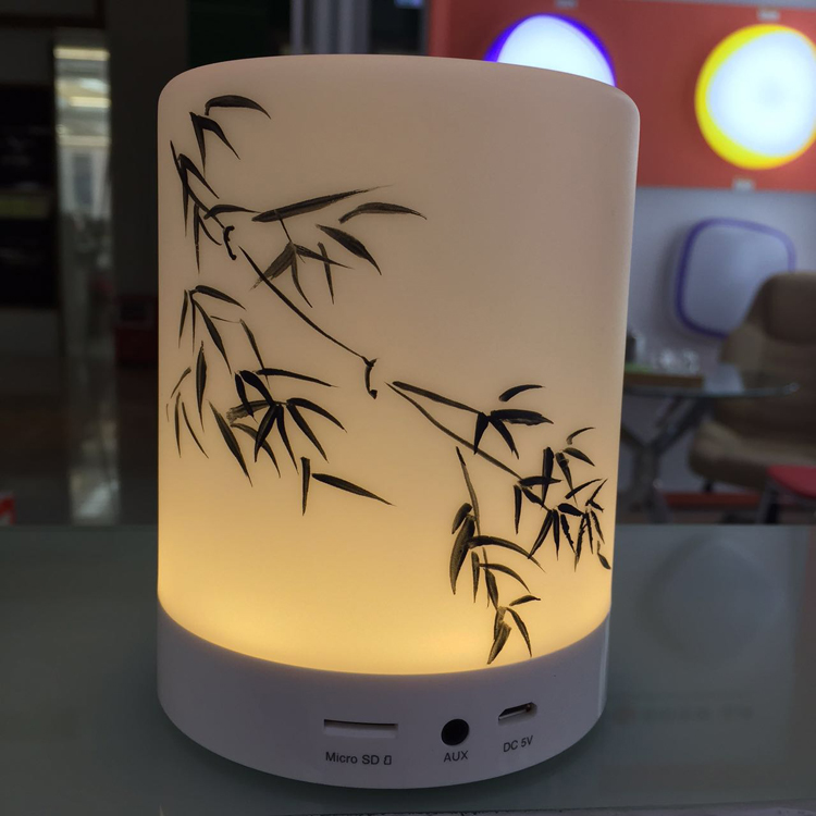 Hot new novelty Wireless Bluetooth night lights dimming Intelligent touch music desk lamps card led Night lamp for bedroom(China (Mainland))