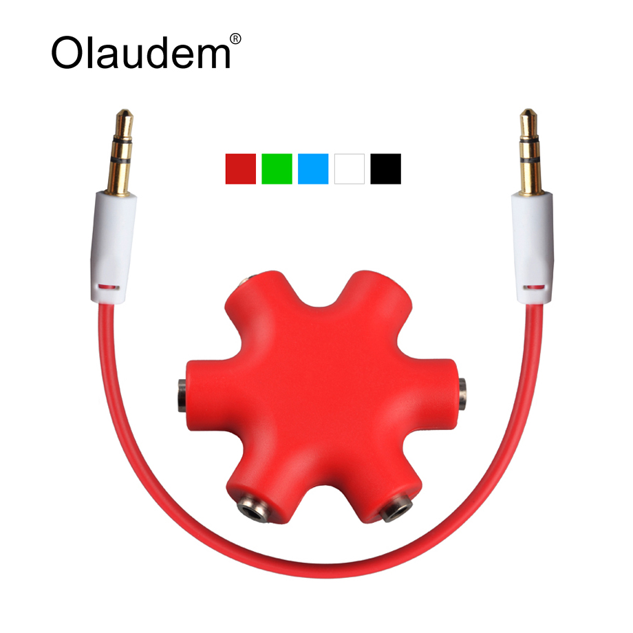 3.5mm Headphone Earphone Extension Stereo Audio Splitter Adapter 1 Male to 2 3 4 5 Female Music Sharing Audio Cable AXC1118(China (Mainland))