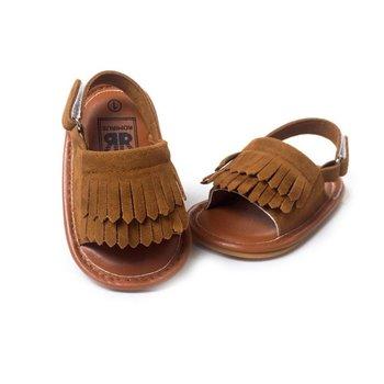 Retail Baby Sandals Summer Leisure Fashion Baby Girls Sandals of Children PU Tassel Shoes 7Colors
