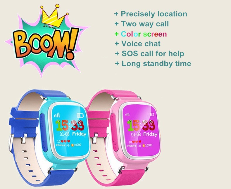 image for 2016 Kid GPS Smart Watch Wristwatch SOS Call Location Device Tracker F