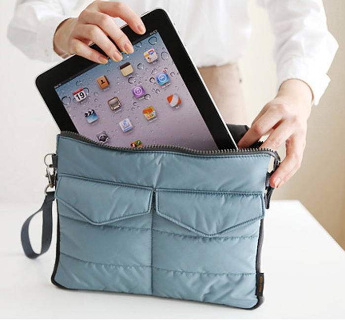 2015 New Arrival Hot selling Pad tablet Organizer Bags for storage bag in bag unisex computer clutch tote bag free shipping(China (Mainland))