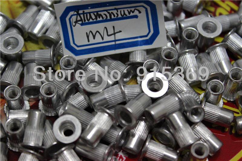 100pcs nut kits M4 M5 M6 M8 rivet nut kits Flat Head Aluminum  Rivet Nut<br><br>Aliexpress
