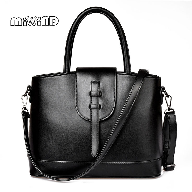 MIWIND Women Leather Handbags Bags Handbags Women Famous Brands Portable Women Messenger Bags Women's Wristlets Free Shipping