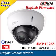 2017 New English Version Dahua DH-IPC-HDBW4431R-S IP Camera 4MP H.265  up to 128G Support POE and SD Card IP67 IPC-HDBW4431R-S(China (Mainland))