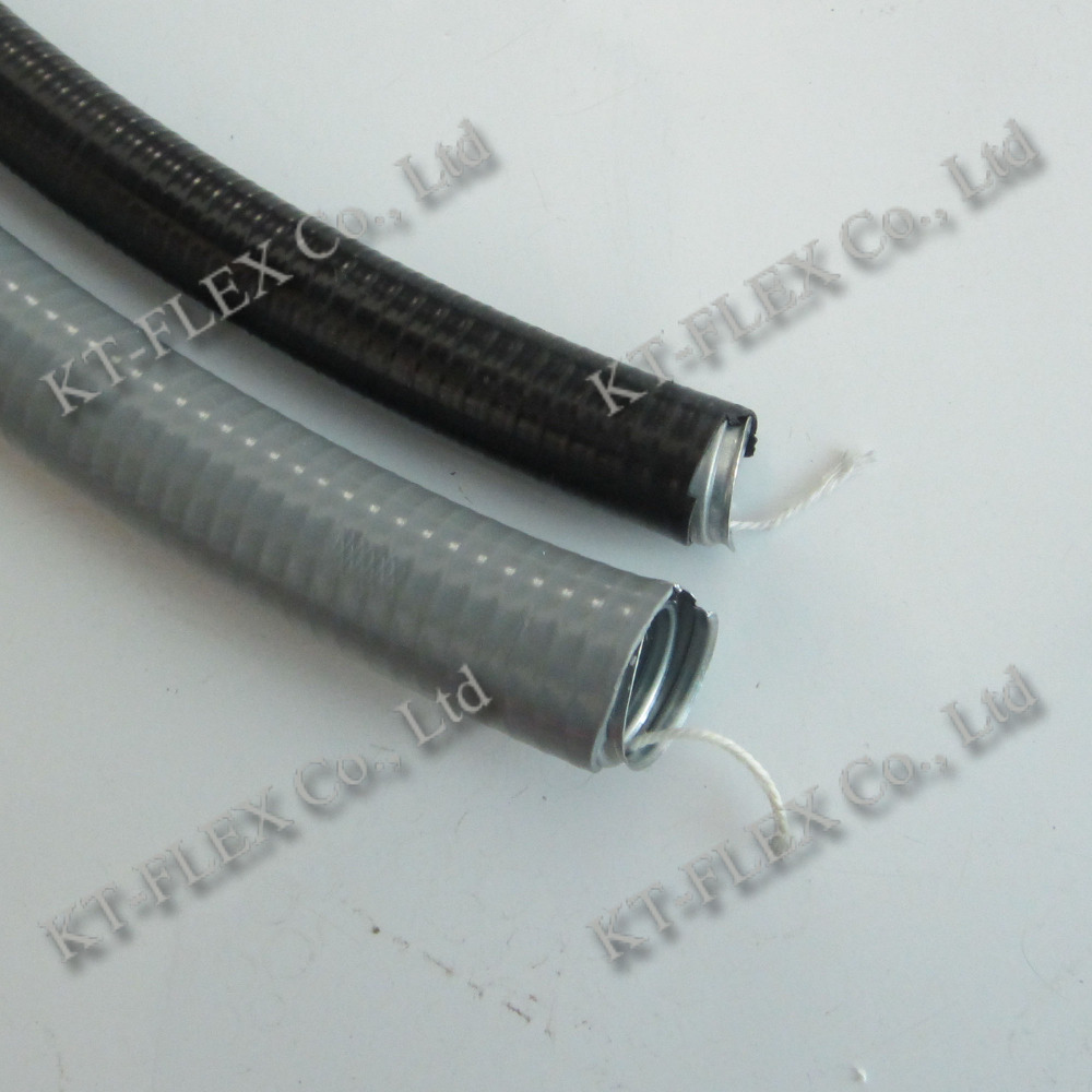 Flexible Cable Sleeves : Pvc jacket squarelocked flexible conduit with yarn