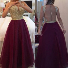 Gold Royal Blue Chiffon Burgundy Bridesmaid Dresses 2016 Wedding Party Dress Long vestido de festa Prom Dresses