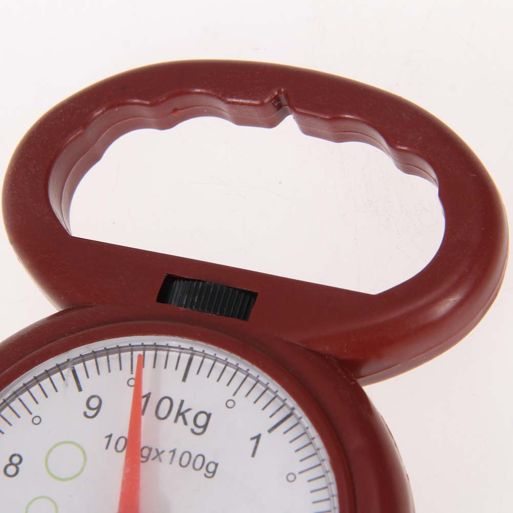 Mini 10kg Portable Weighing Scales Fishing Hook Luggage Scale Arabic Numeral Pointer Pocket Numeral Pointer Hanging Scale