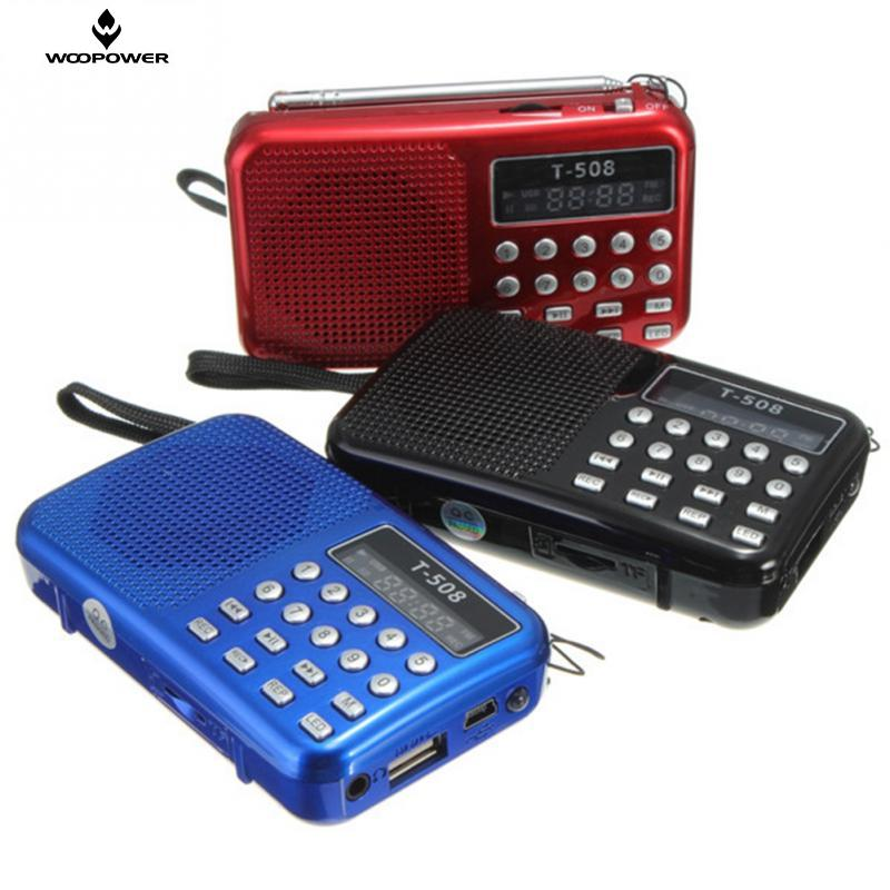 Portable dual band Rechargeable Digital LED display panel Stereo FM Radio Speakers USB TF mirco for SD Card MP3 Music Player(China (Mainland))
