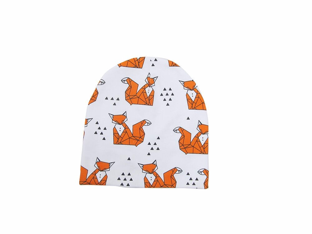 Autumn Winter Warm Baby Kids Caps Scarfs Suits Cotton Animal Printed Infant Hats Scarf Set Baby Hat Baby Cap