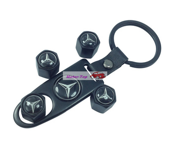 black Metal Wrench Wheel Airtight Tyre Tire Valve Caps Stem For Mercedes Benz All Car Free Shipping High Quality Wholesale