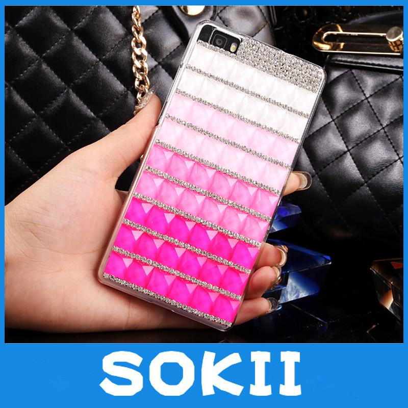3D Luxury Bling Crystal Fashion Designed Diamond Rhinestones Case Cover For BlackBerry Q10 handmade hard Case(China (Mainland))