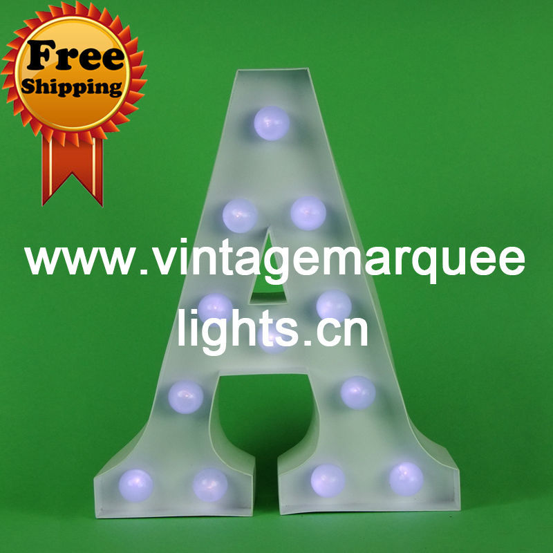 The channel vintage letter light is a 9 inch retro marquee light and FREE SHIPPING(China (Mainland))