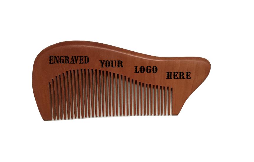 Handmade No Static Nanmu Dark Color Fine Pocket Hair Brush Comb Beard Mustache Comb(China (Mainland))