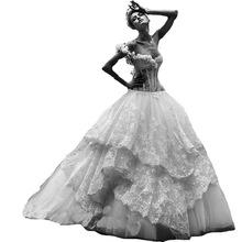 Vintage One Shoulder Lace Wedding Dress Sweetheart 2016 Vestido De Novia Vintage Ball Gown Bridal Dresses Prices In Euros(China (Mainland))