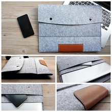 Fashion 11,13,15 inch Wool Felt Hand Hold Inner Notebook Laptop Sleeve Bag Case Carrying Handle Bag For Macbook Air/Pro/Retina(China (Mainland))