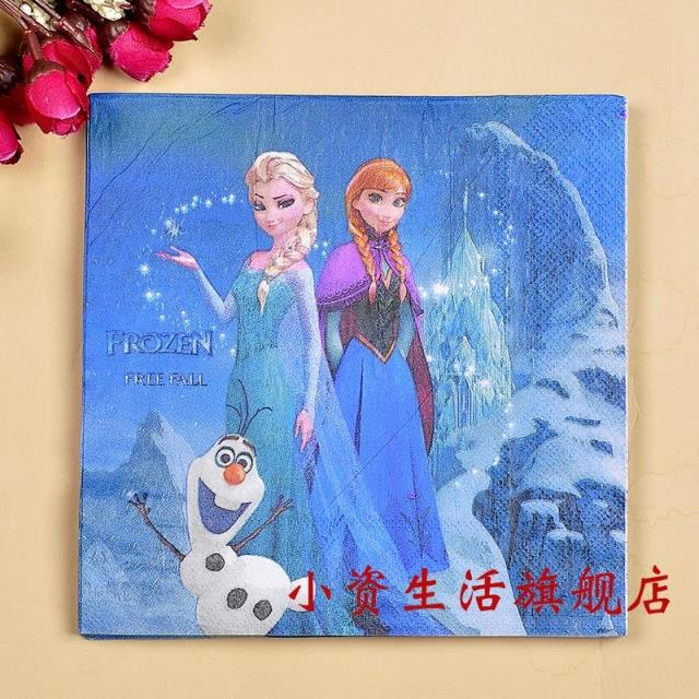 Popular Princess Napkin Tissue 100Pcs Paper Napkin Creative Printed Paper Free Shipping Paper Towels 100% Primary Wood Kleenex(China (Mainland))