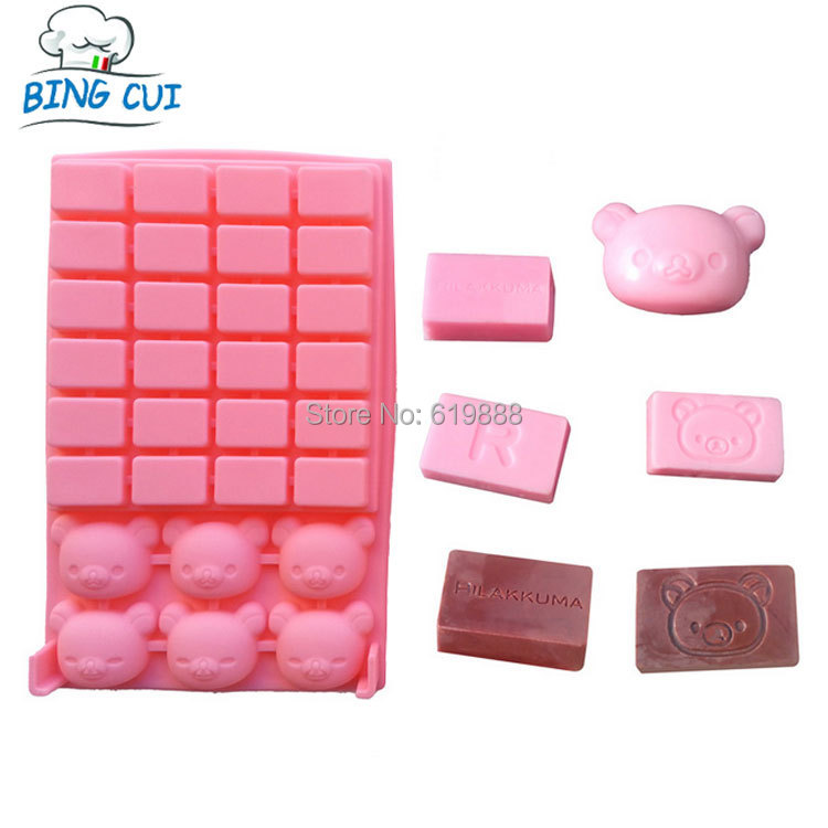 Cubs Bear Silicone Chocolate Mold Block Soap Fandont Mould Cake Molds Cake Baking Tools SML093(China (Mainland))