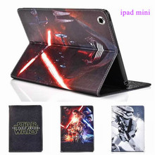 Star Wars The Force Awakens Stormtrooper Jedi Knight Black Darth Vader PU Leather Case Cover For iPad Mini 1/2/3 Free Shipping(China (Mainland))