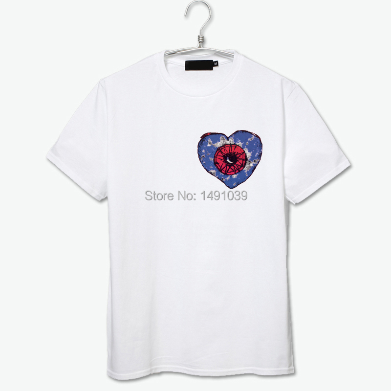 Love song small logo black white gray t shirt cotton tee for Order shirts with logo